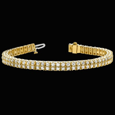 Two Row Diamond Tennis Bracelet