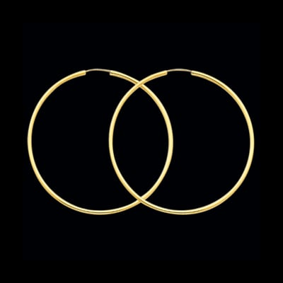 14K Gold 1.5mm Endless Hoops