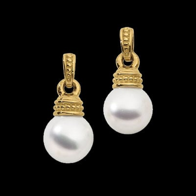 18kt Gold & South Sea Pearl Earrings