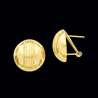 Gold Button Stripe Earring