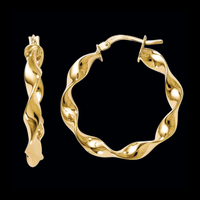 Loose Twist Gold Hoop Earrings