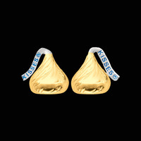 Gold Hershey's Kiss Earrings