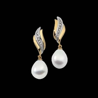 18K Gold South Sea Pearl Earrings