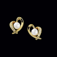 Akoya Pearl Diamond Earrings