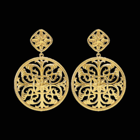 Filigree Medallion Design Earrings