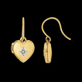 Heart Locket Dangle Earrings