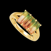 Tourmaline Gemstone Gold Ring