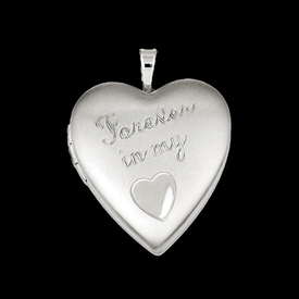 "Silver ""Forever"" Heart Locket"