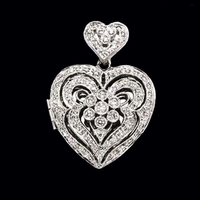 Diamond Heart White Gold Locket