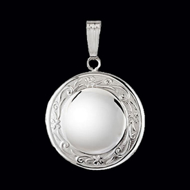 Round Sterling Silver Oval Locket