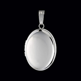 Large Silver Oval Locket