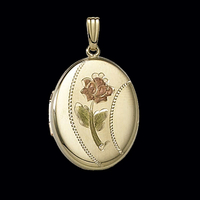 Single Flower Gold Locket