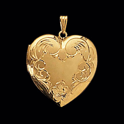 Engraved Heart Locket Intricate Details To Make Her Swoon