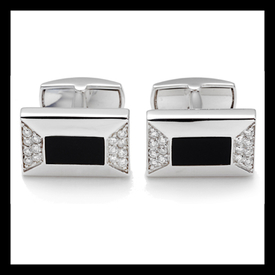 Diamond Onyx Cufflinks