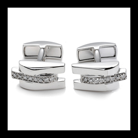 Sophisticated Diamond Cufflinks