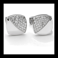 Square Diamond Split Cufflinks