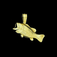 A Keeper Gold Bass Pendant