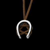 Leather Horseshoe Necklace