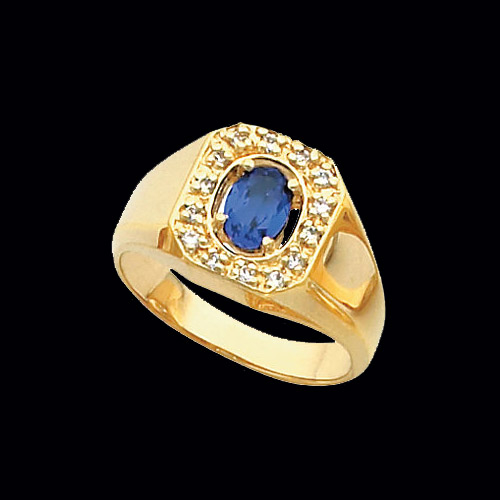Gents Oval Gemstone Ring
