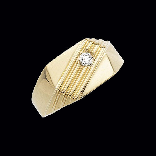Gold Gents Diamond Ring