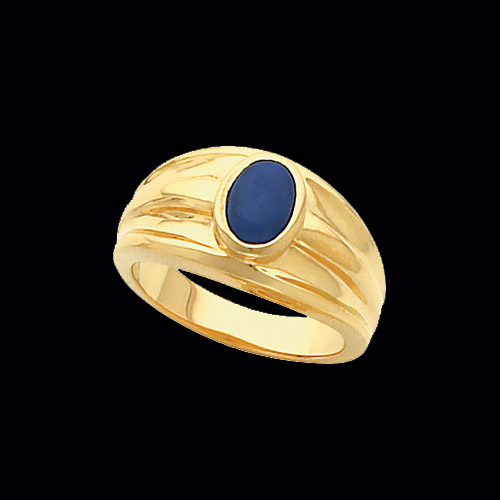 Mens Blue Cats Eye Ring