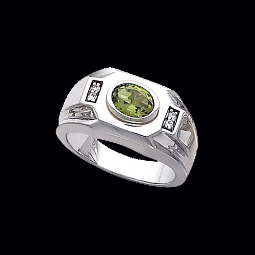 Mens East West Gemstone Ring