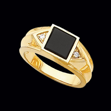 handsome s onyx ring
