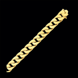 Gold Hand Polished Fancy Link Bracelet