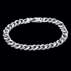 Mens Diamond Curb Bracelet