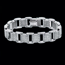 Sophisticated Mens Diamond Bracelet