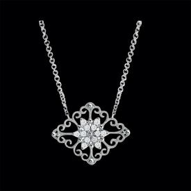 Diamond Antique Style Necklace