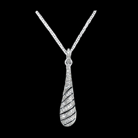 Tapered Drop Diamond Necklace
