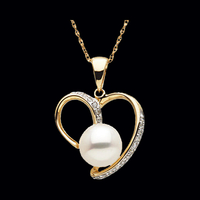 Freshwater Cultured Pearl & Diamond Pendant
