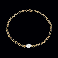 South Sea Cultured Pearl & Gold Necklace