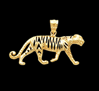 Gold Tiger Pendant