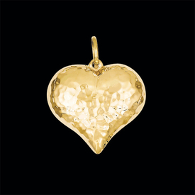 Hammered Gold Heart Pendant