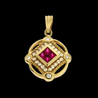 SKPX2638 Ruby Diamond Pendant