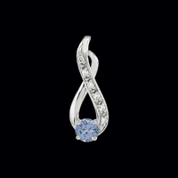 Delightful Tanzanite Diamond Pendant