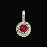Ruby Diamond Pendant