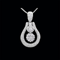 Diamond Cluster Design Pendant