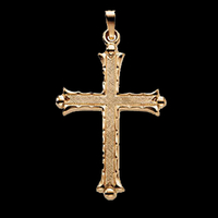 14K Gold Fancy Cross