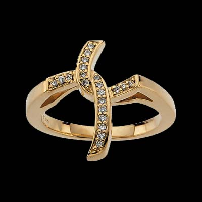 cross ring designer jewelry by gracious