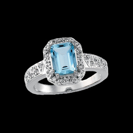 Fancy Aquamarine Diamond Ring