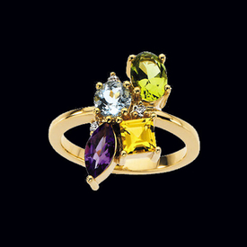 Multigemstone Ring