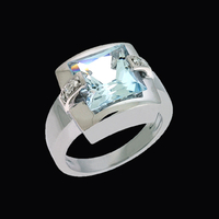Incredible Aquamarine Diamond Ring