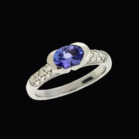 Pave Diamond Tanzanite Ring