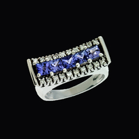 14SKC5680 Tanzanite Diamond Ring