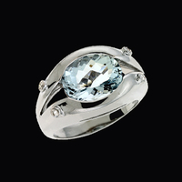 Modern Design Aquamarine Ring