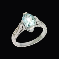 Lovely Aquamarine Diamond Ring