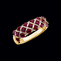 Ruby Diamond Weave Ring